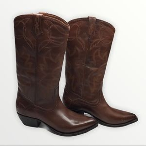 FRYE Shane Embroidered Tall Whiskey Boot sz 8B